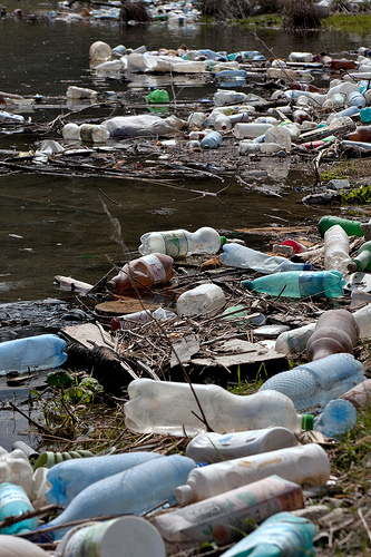 polluted river photo