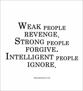 Intelligent people don't take offence