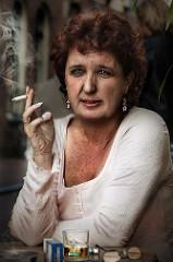 enjoying a cigarette photo