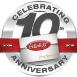10th Anniversary logo for Peterbilt Preferred Loyalty Program