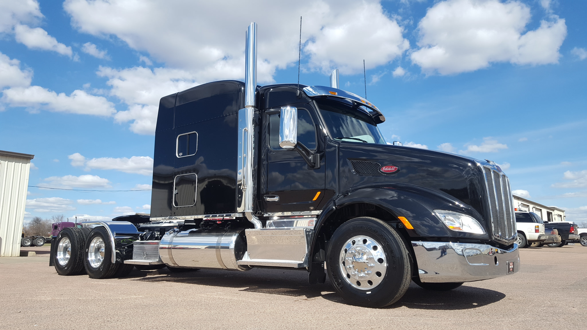 Wallpaper Stores In Sioux Falls Sd Beautiful Black Amp Chrome 579 Peterbilt Of Sioux Falls
