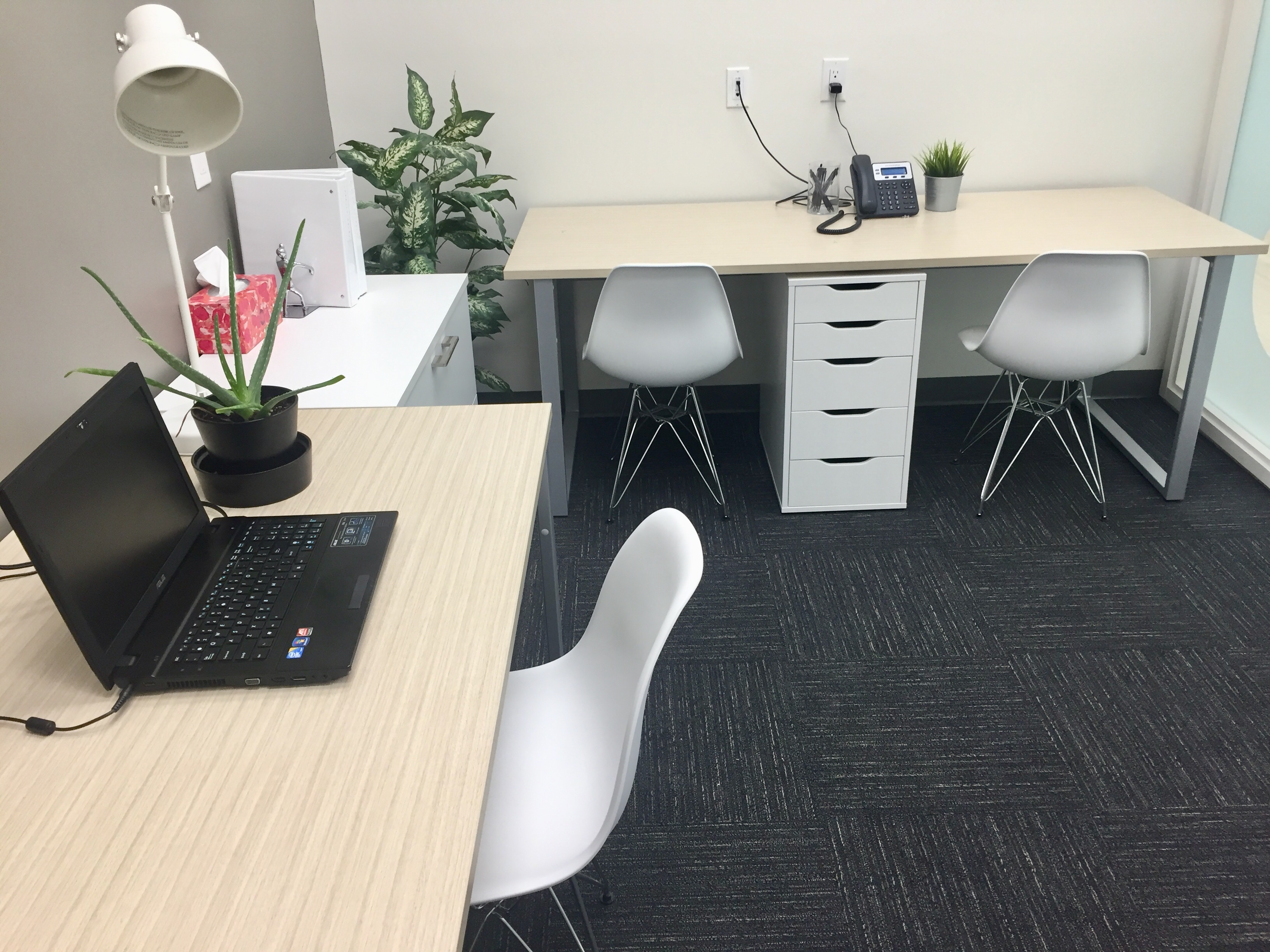 double office two desks fully furnished