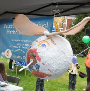 Mosquito the youth made for Imagine No Malaria at Peak Into Peterborough