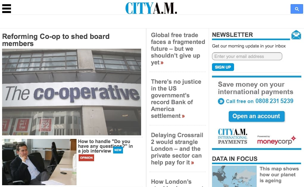 CityAM Screenshot