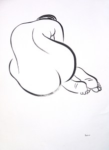 Brush Drawing 5: Ink on Paper