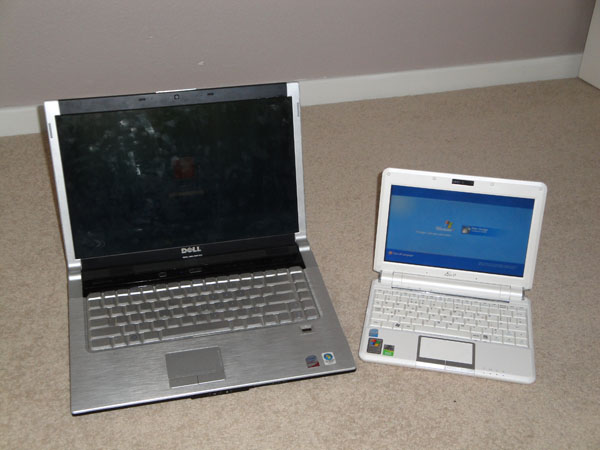my work and play laptops