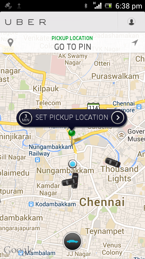 Uber Pick Up Location