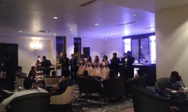 Carols in Hilton Lobby