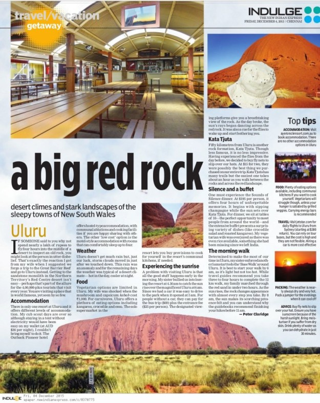 a big red rock new indian express article