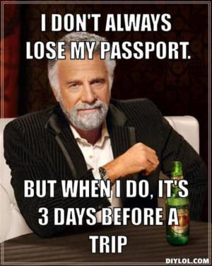 lost passport meme