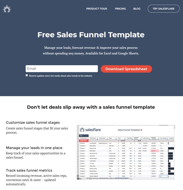 salesflare lead magnet