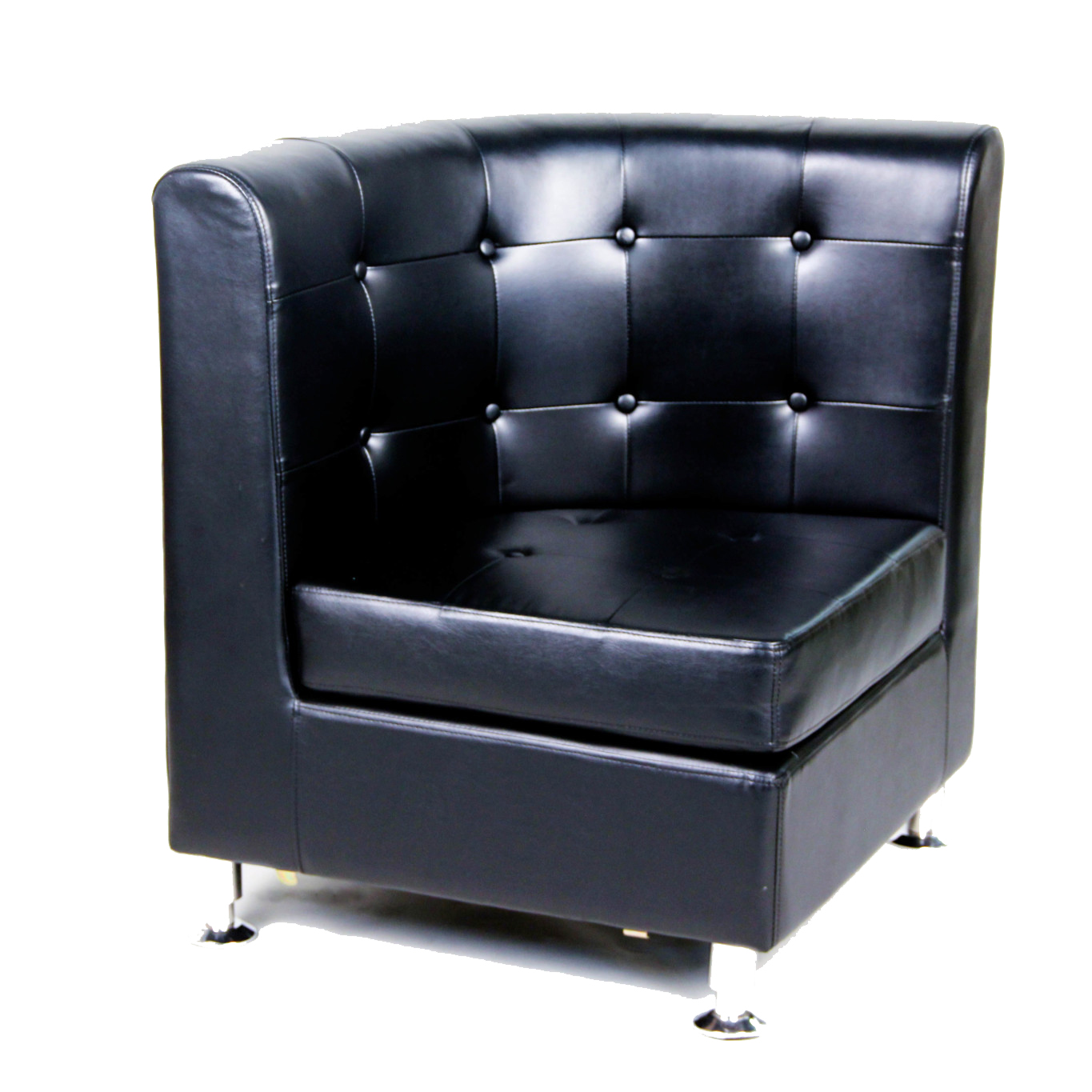 Round Corner Chair Rounded Black Tufted Chairs Corner Seat Peter Corvallis