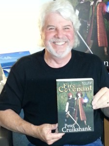Peter with his first book. The smile says it all.