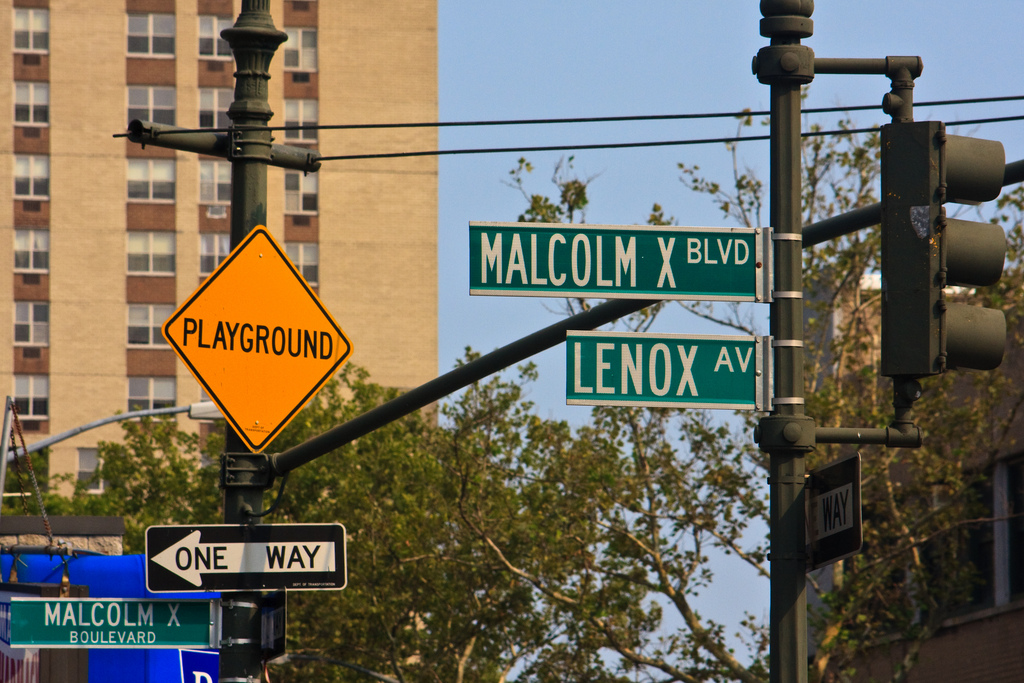 Black Lives Matter: a photo of malcolm x blvd