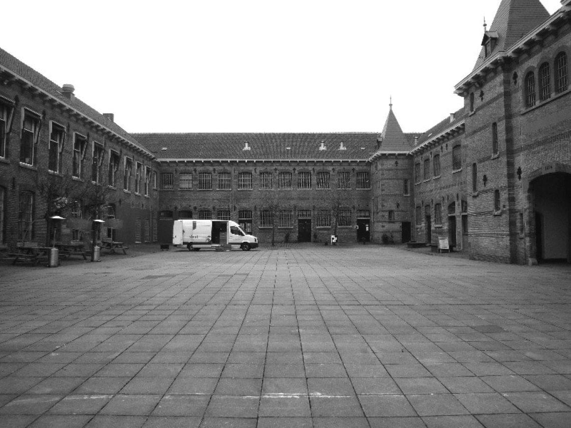Het binnenhof van de Blokhuispoort in Leeuwarden