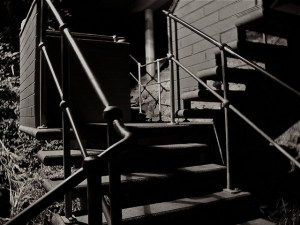 Pre-dawn shadows on Jacob's Ladder