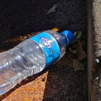 Mount Franklin water bottle on the road above Jacob's Ladder