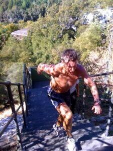 Geoff Jamieson using in full flight on Jacob's Ladder