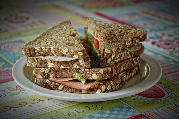 Photo of a plate of sandwiches