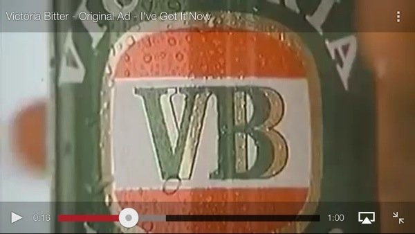 Victoria Bitter ad