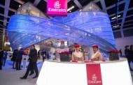 Emirates presenterte nye A380 Onboard Lounge på tre-etasjers stand