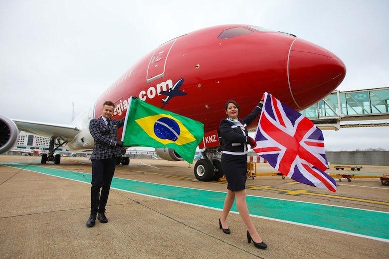 Norwegian flyr til Brasil