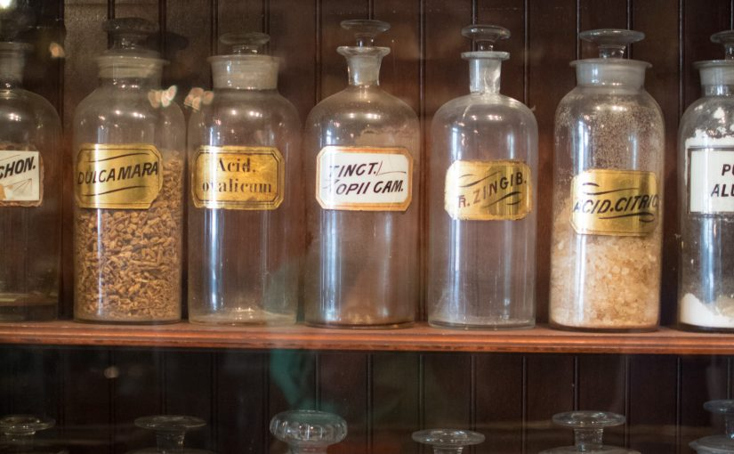 Medicine Bottles from New Orleans Pharmaceutical Museum