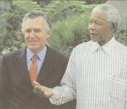 Peter with Nelson Mandela