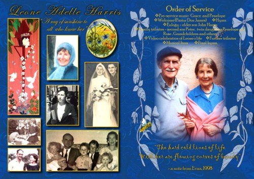 Leone harris funeral sheet  page two monday 2  june 2014