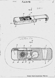 "Drawings from Finish patent № 20056, entitled ""Rullfilmkamera"" (2/3)."