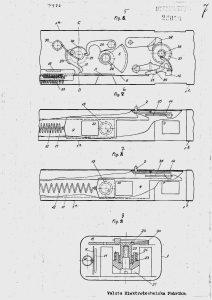 "Drawings from Finish patent № 20056, entitled ""Rullfilmkamera"" (3/3)."