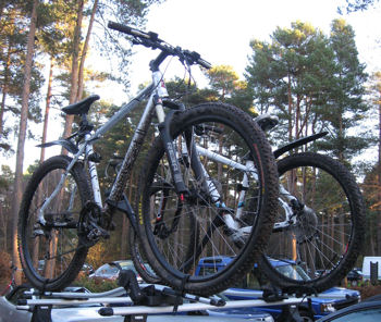 Two hard tail mountain bikes