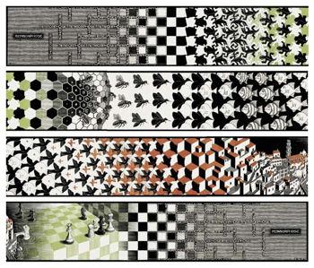 Metamorphosis II - Maurits Cornelis Escher (1898 - 1972)