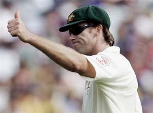 Glenn McGrath, Australian cricket legend, recommending England as the team most likely to become world number one after their home and away Ashes victories