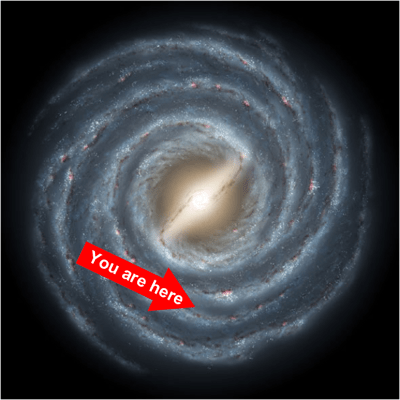 The unfashionable end of the western spiral arm of the Galaxy