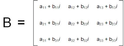 3x3 complex matrix
