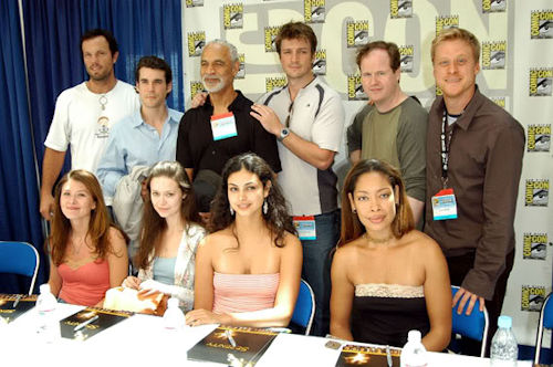 The cast and author / director of Serenity at Comic Con