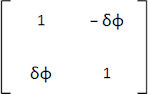 Infinitesimal rotation matrix