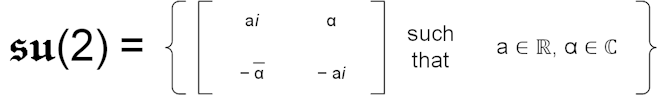su(2) Lie Algebra definition