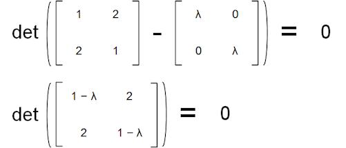 Calculate eigenvalues