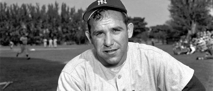 The late Yogi Berra