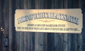 Echuca blacksmith sign