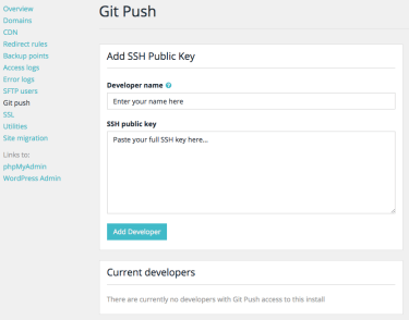 WP Engine Git Push SSH Key