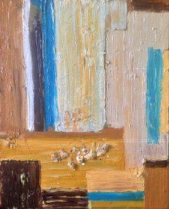 26/15 'Quails'eggs 1: crushed' Oil on cavas