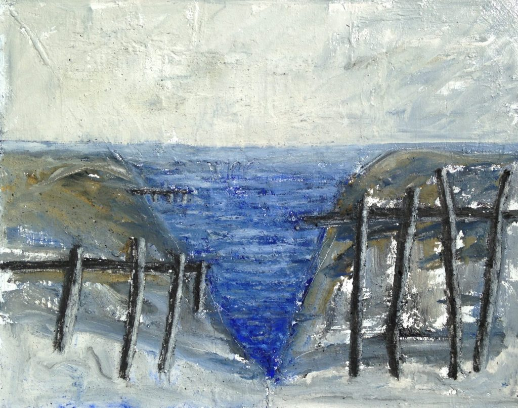 'Jetties' oil on canvas