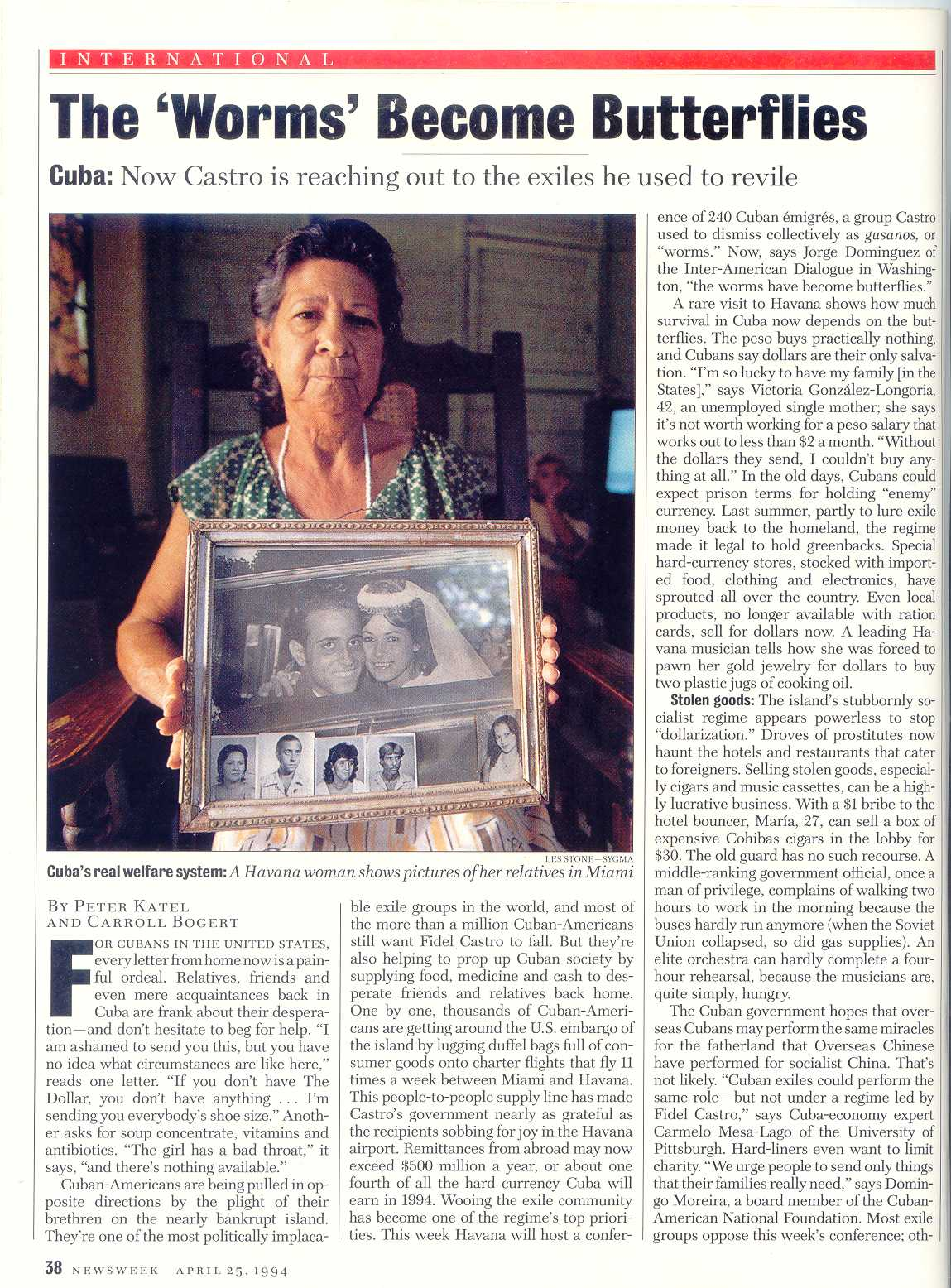 Peter Katel in Little Havana – NEWSWEEK Magazine (1994)
