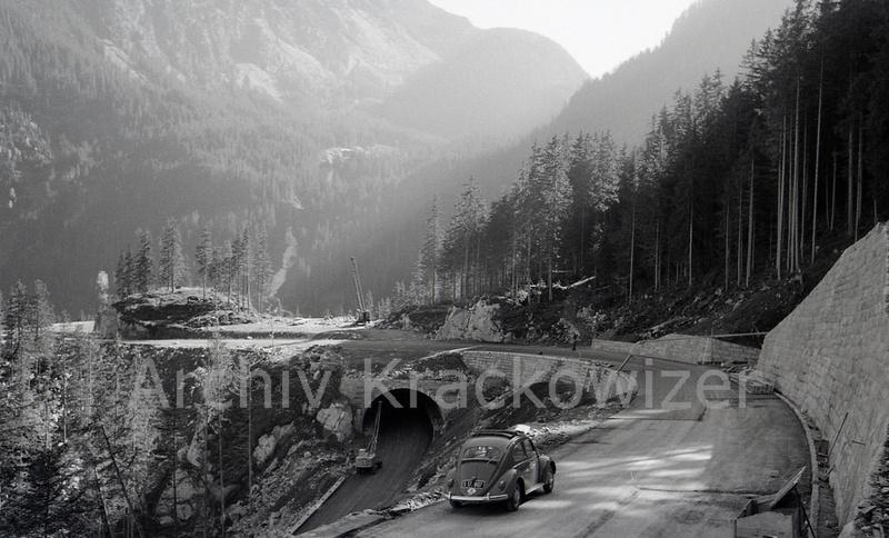 Gerlos Alpenstraße im Oktober 1962: hier die Lösung von Wallack für das Trattenköpfl.
