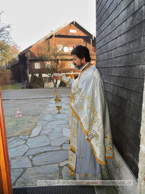 Athanasios feierte seinen Namenstag in Pfongau, Neumarkt am Wallersee