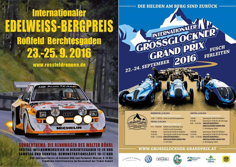 Die beiden Plakate der Veranstaltung zwischen 22. und 25. September 2016