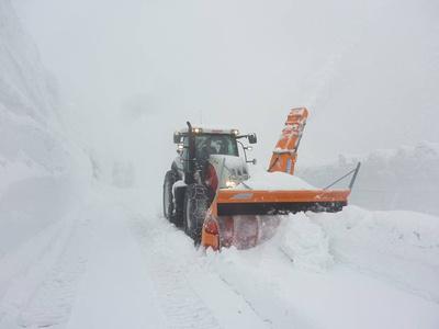 Schlechte Wetterbedingungen Schneeräumung